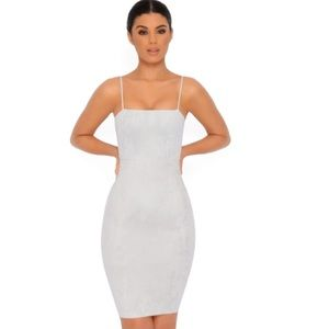 Throwing Suede Knee Length Dress  |  OH POLLY